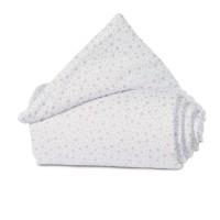 babybay Nestchen Organic Cotton passend für Modell Maxi, Boxspring, Comfort und Comfort Plus, weiß Glitzersterne rosé