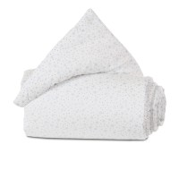 babybay Nestchen Organic Cotton passend für Modell Original, weiß Glitzersterne diamantblau