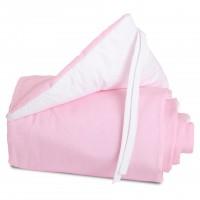 babybay Nestchen Cotton für Midi und Mini, rosa/weiß