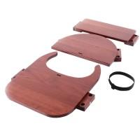 babybay Hochstuhlumrüstsatz passend für Modell Original, Maxi und Comfort, dunkelbraun lackiert