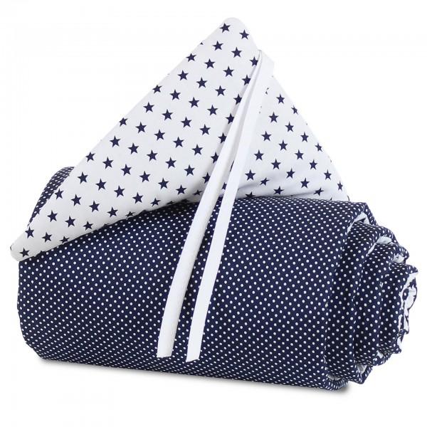 babybay Nestchen Organic Cotton für Midi und Mini, weiß Sterne blau