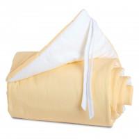 babybay Nestchen Cotton passend für Modell Maxi, Boxspring und Comfort, gelb/weiß