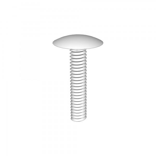 Schraube für Flügelmutter M6x25mm