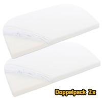 babybay Jersey Spannbetttuch Deluxe Doppelpack passend für Modell Maxi, Midi, Boxspring und Comfort, weiß
