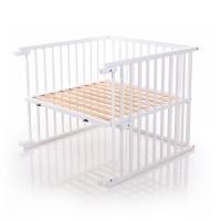 babybay Kinderbett-Umbausatz passend für Modell Original, weiß lackiert