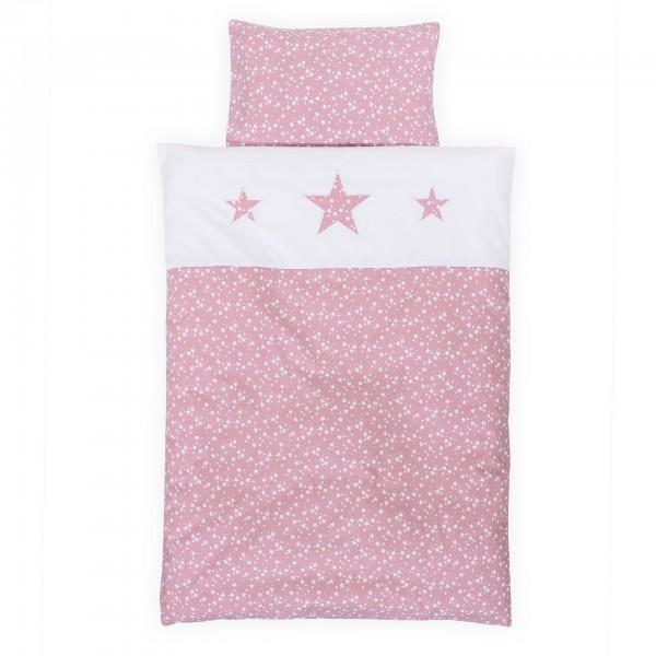babybay Kinderbettwäsche Piqué, beere Sterne weiß mit Applikation Stern