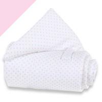 babybay trend Piqué Nestchen weiß Punkte zartrosa