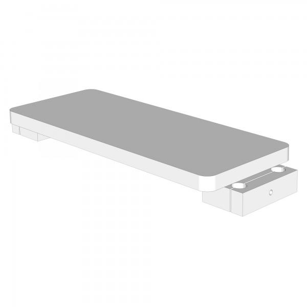 Zub(p) Fußplatte für Hochstuhlumrüstsatz schiefergrau lackiert 160757/100717