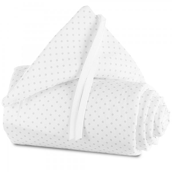 babybay Nestchen Piqué passend für Modell Maxi, Boxspring, Comfort und Comfort Plus, weiß Punkte perlgrau