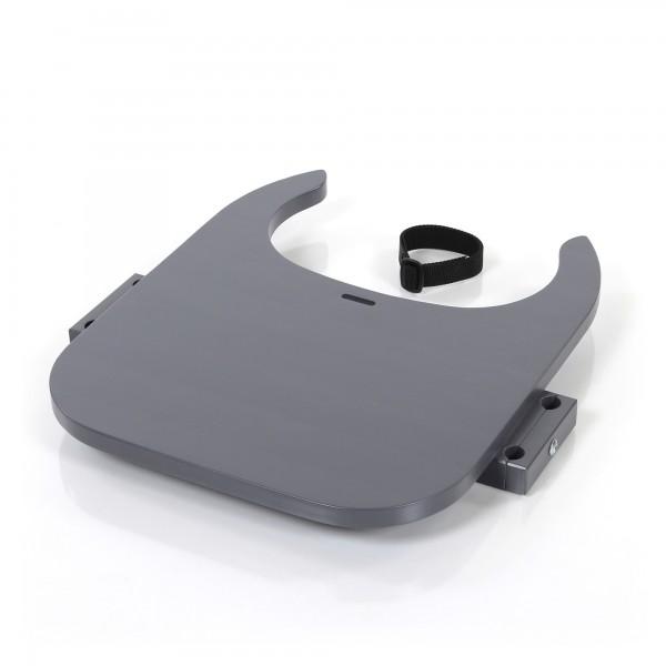 babybay Tischplatte Hochstuhlumrüstsatz passend für Modell Original, Maxi, Comfort und Comfort Plus, schiefergrau lackiert