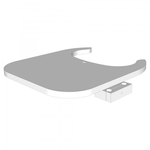Teil N Tischplatte für Hochstuhlumrüstsatz weiß lackiert