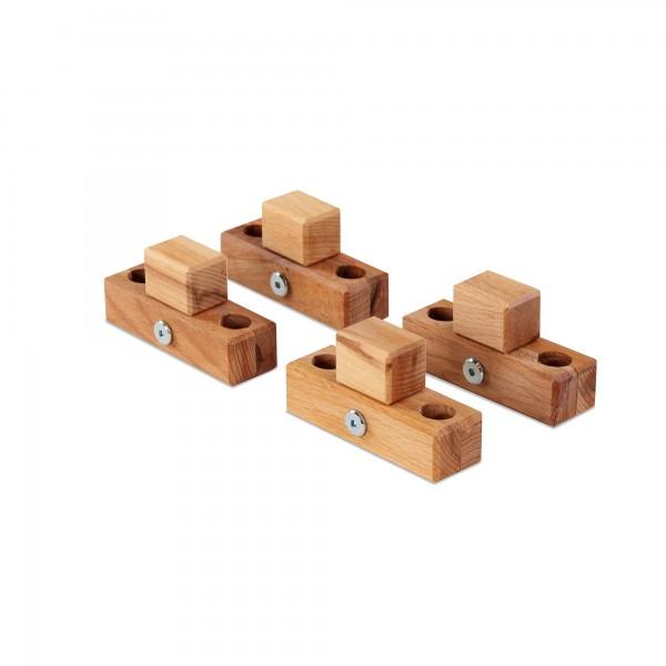 babybay Verbindungsbacken zum Laufstall passend für Modell Original, Midi, Mini, Maxi und Boxspring, Kernbuche geölt