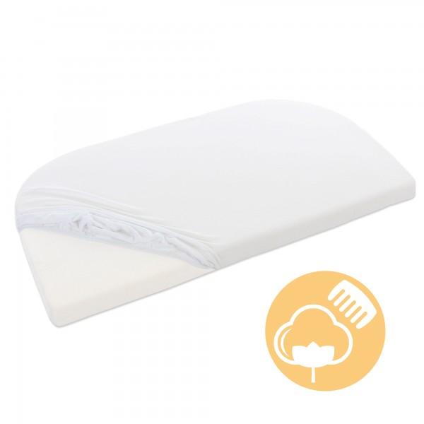 babybay Jersey Spannbetttuch Deluxe passend für Modell Verlängerungsseite Original, Maxi, Midi und Boxspring, Off-White