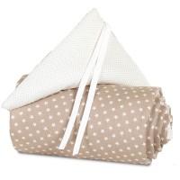 babybay Nestchen Organic Cotton für Midi und Mini, hellbraun Sterne weiß