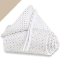 babybay Nestchen Piqué passend für Modell Original weiß Punkte sand