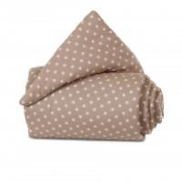 babybay Nestchen Organic Cotton passend für Modell Original, hellbraun Sterne weiß