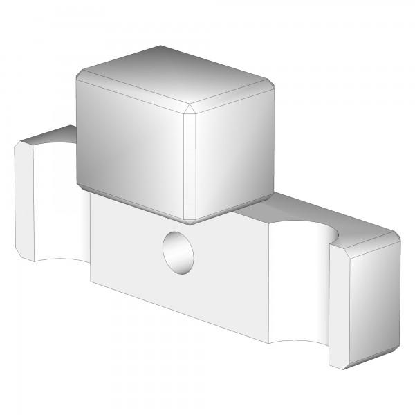 Zub(a) T-Verbindungsbacke für Laufstall dunkelbraun lackiert 100623