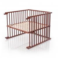 babybay Kinderbett-Umbausatz für Original, dunkelbraun lackiert