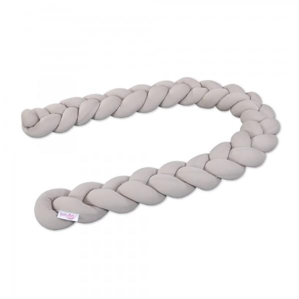 babybay Nestchenschlange geflochten passend für Kinderbetten, beige