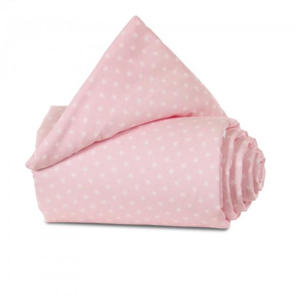 babybay Nestchen Organic Cotton passend für Modell Maxi, Boxspring und Comfort, rose Sterne weiß