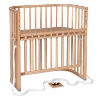 babybay Boxspring Comfort Plus Beistellbett, natur lackiert