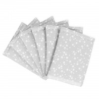 babybay Nestchen Ultrafresh Piqué passend für Modell Original, perlgrau Sterne weiß