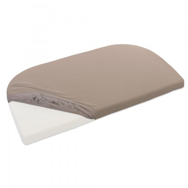 babybay Jersey Spannbetttuch passend für Modell Verlängerungsseite Original, Maxi, Midi, Mini und Boxspring, nougat
