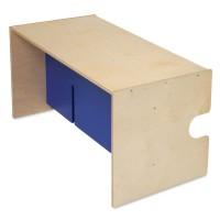 babycube Tisch/Bank, natur lackiert