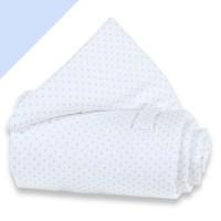 babybay trend Piqué Nestchen weiß Punkte hellblau