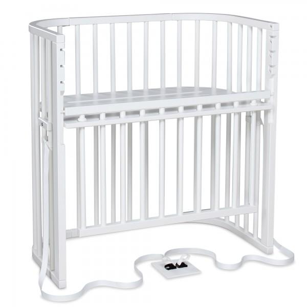 babybay Boxspring Comfort Plus Beistellbett, weiß lackiert