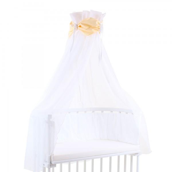 babybay Himmel Cotton mit Schleife passend für alle Modelle, gelb/weiß