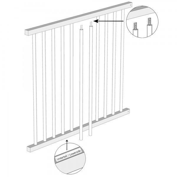 Zub(a) Seitenteil mit Schlupfsprossen für Kinderbettumbausatz original/maxi/boxspring weiß lackiert 170102/176102