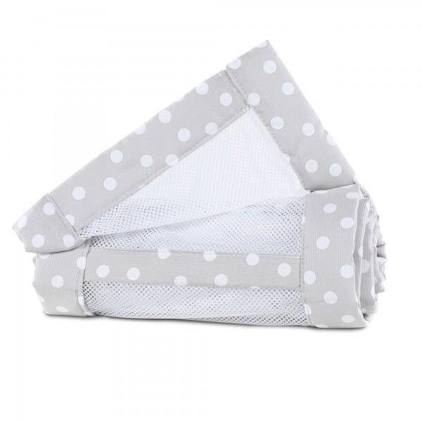babybay Nestchen Mesh-Piqué passend für Modell Original, perlgrau Punkte weiß