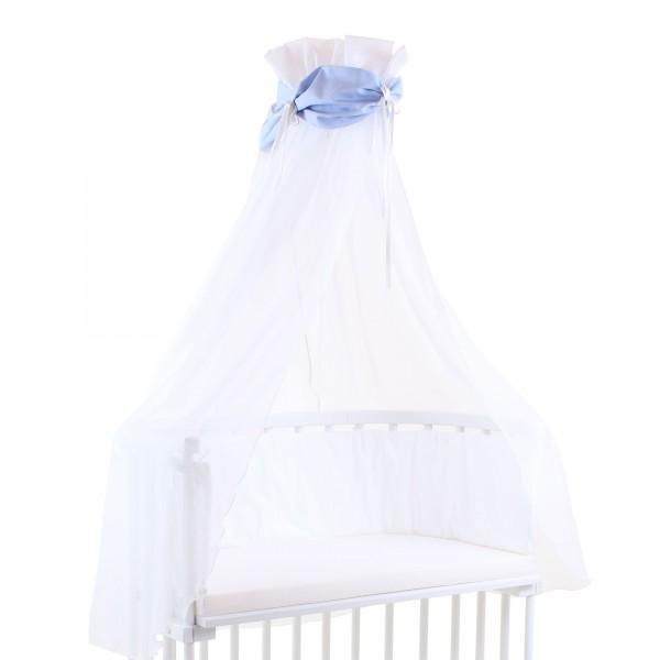 babybay Himmel Cotton mit Schleife passend für alle Modelle, blau/weiß