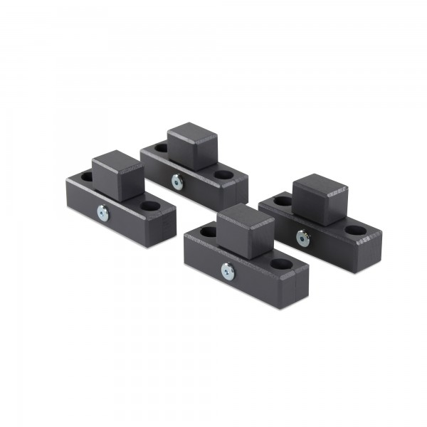 babybay Verbindungsbacken zum Laufstall passend für Modell Original, Midi, Mini, Maxi und Boxspring, schiefergrau lackiert