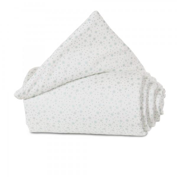 babybay Nestchen Organic Cotton passend für Modell Midi und Mini, weiß Glitzersterne mint