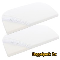 babybay Jersey Spannbetttuch Doppelpack passend für Modell Original, weiß