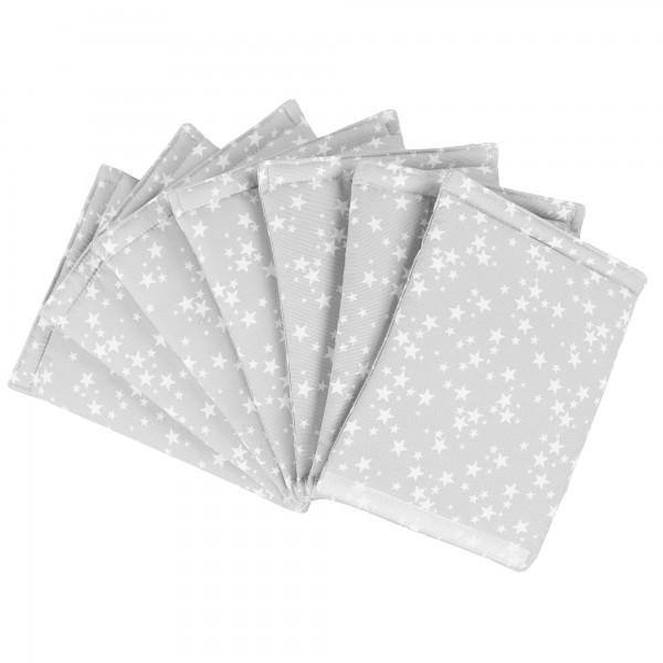 babybay Nestchen Ultrafresh Piqué passend für Modell Maxi, Boxspring, Comfort, Mini und Midi, perlgrau Sterne weiß