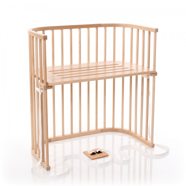 Babybay Boxspring Co Sleeper Natural Varnished Babybay De