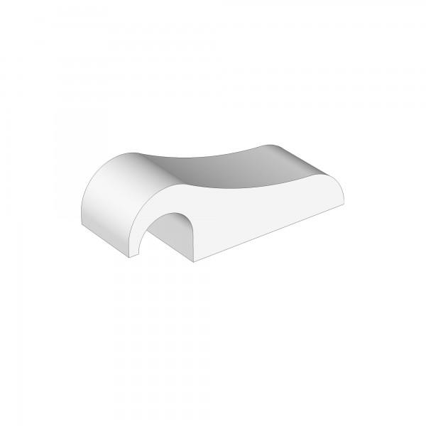 Verschlussklemme für Verschlussgitter weiß lackiert