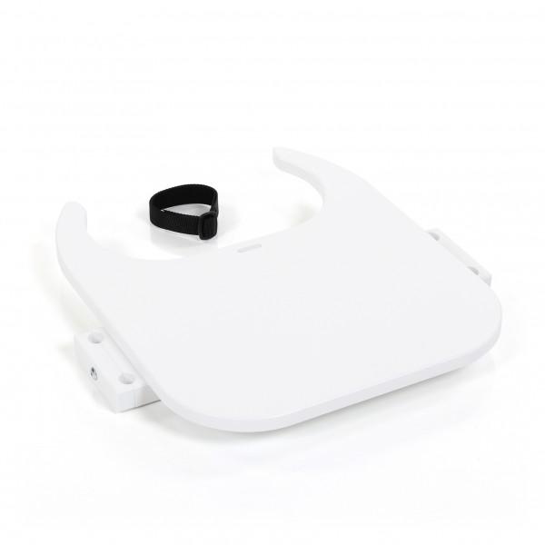 babybay Tischplatte Hochstuhlumrüstsatz passend für Modell Original, Maxi, Comfort und Comfort Plus, weiß lackiert