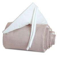 babybay Nestchen Cotton passend für Modell Midi und Mini, braun/weiß