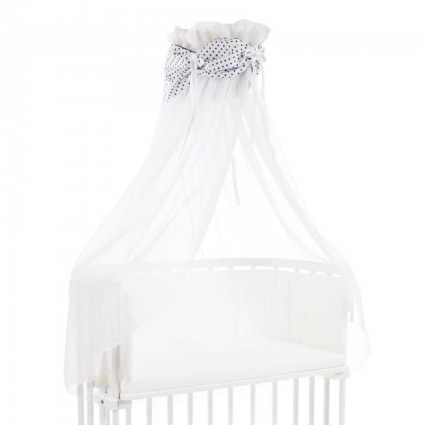babybay Himmel Organic Cotton mit Schleife passend für alle Modelle, weiß Sterne blau