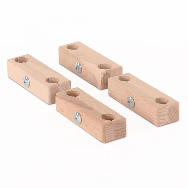 babybay Verbindungsbacken zum Laufstall für Original, Midi, Mini, Maxi und Boxspring, natur unbehand