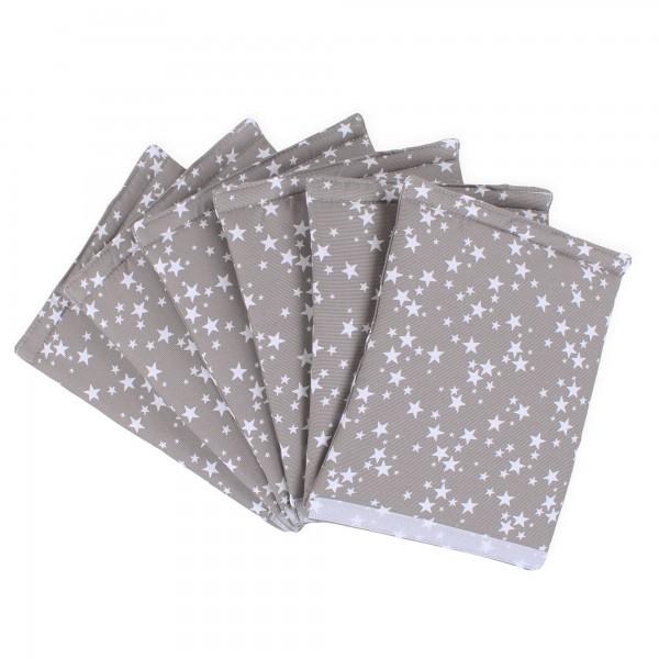 babybay Nestchen Ultrafresh Piqué passend für Modell Original, taupe Sterne weiß