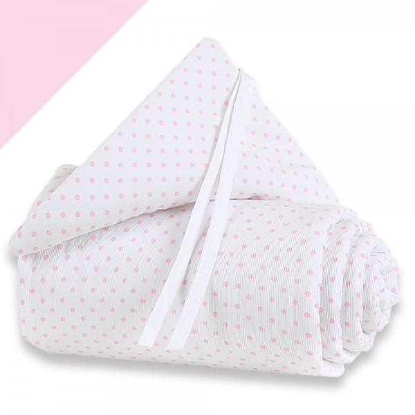 babybay mini/midi Piqué Nestchen weiß Punkte zartrosa