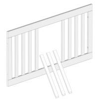 Zub(l) Seitenteil mit Schlupfsprossen für All in One Kinderbett hellgrau/weiß lackiert 402105