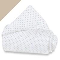 babybay alle Modelle Piqué Gitterschutz weiß Punkte sand