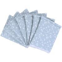 babybay Nestchen Ultrafresh Piqué passend für Modell Maxi, Boxspring, Comfort, Midi und Comfort Plus, azurblau Sterne weiß