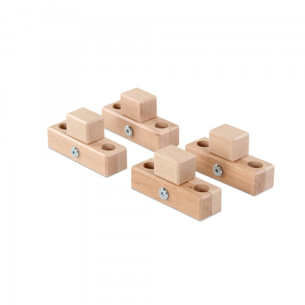 babybay Verbindungsbacken zum Laufstall passend für Modell Original, Midi, Mini, Maxi und Boxspring, natur lackiert